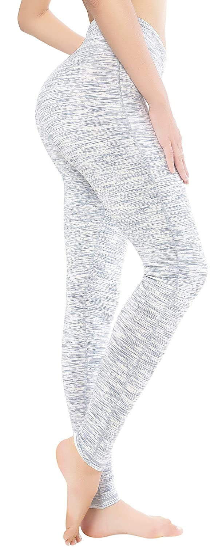 5397ce9318 QUEENIEKE Women Power Stretch Leggings Plus Size Medium Waist Yoga Pants  Hidden Pocket Running Tights Size M Color White Space Dye: Amazon.co.uk:  Clothing