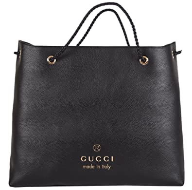 8030ba84d13 Amazon.com  Gucci Women s Black Textured Leather Large Braided Handle Tote   Shoes
