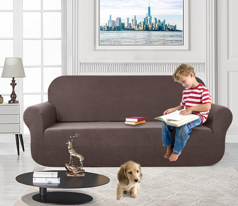 Amazon.com: AUJOY - Funda de sofá elástica grande repelente ...