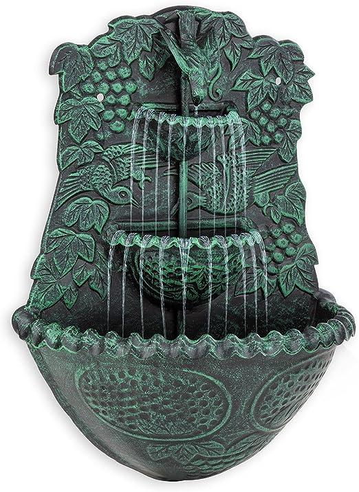 blumfeldt Dionysos Fuente Decorativa de Pared de jardín (Bomba 5W circulación de Agua, diseño Estilo Antiguo, Efecto Musgo): Amazon.es: Jardín