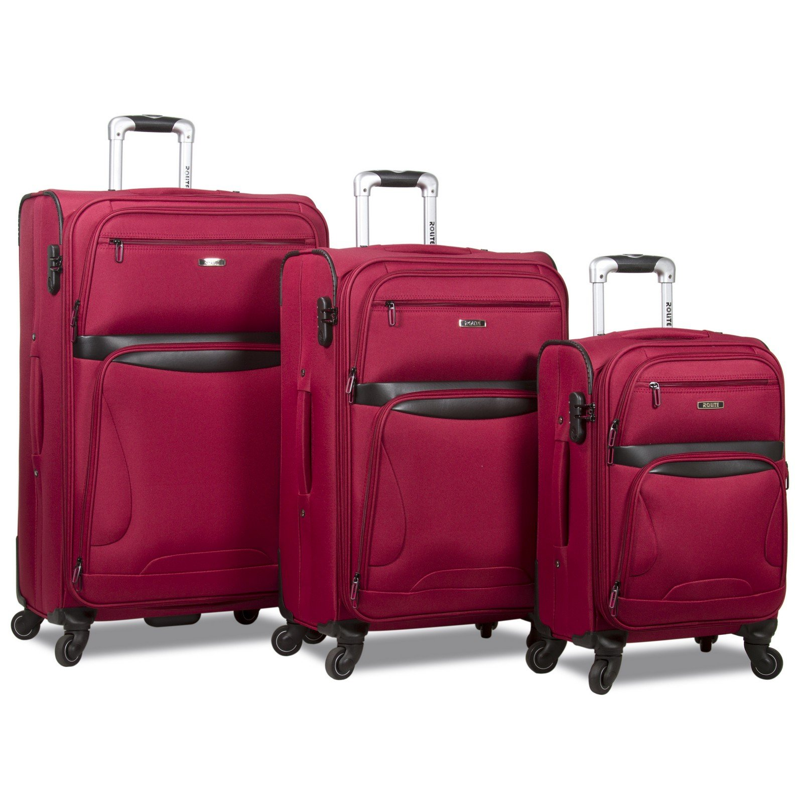 Rolite Explorer 3-Piece Expandable Spinner Luggage Set - Burgundy