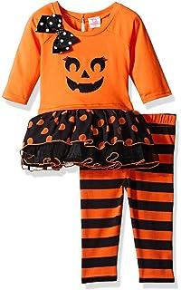 Youngland Baby Girls Pumpkin Tutu Dress with Knit Legging
