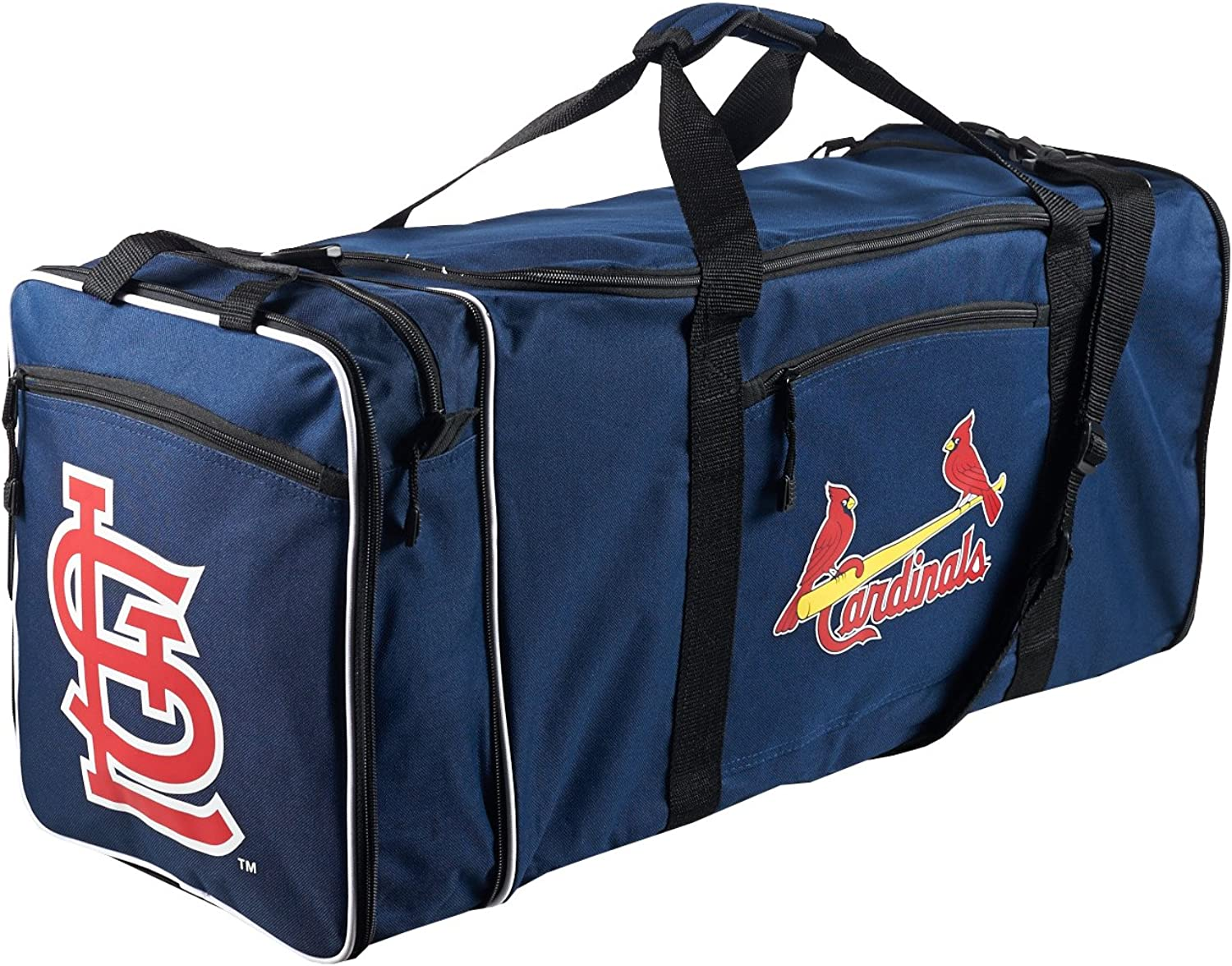 "MLB St. Louis Cardinals ""Steal"" Duffel, 28"" x 11"" x 12"" : Clothing"