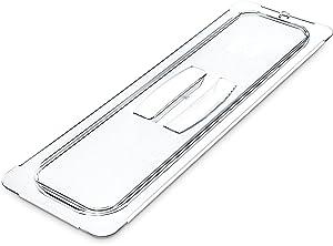 Carlisle 10250U07 StorPlus Half Size Long Polycarbonate Universal Handled Food Pan Lid, Clear