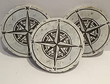 3 x Sundial Stepping Stones Garden Path Trail Decorative Crazy