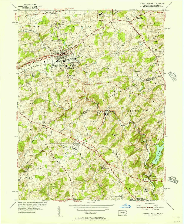 Amazon Com Yellowmaps Kennett Square Pa Topo Map 1 24000 Scale