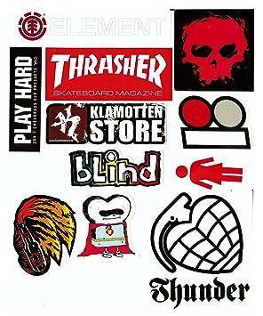 Skater Marken Aufkleber 10 Sticker Im Set Streng Limitiert