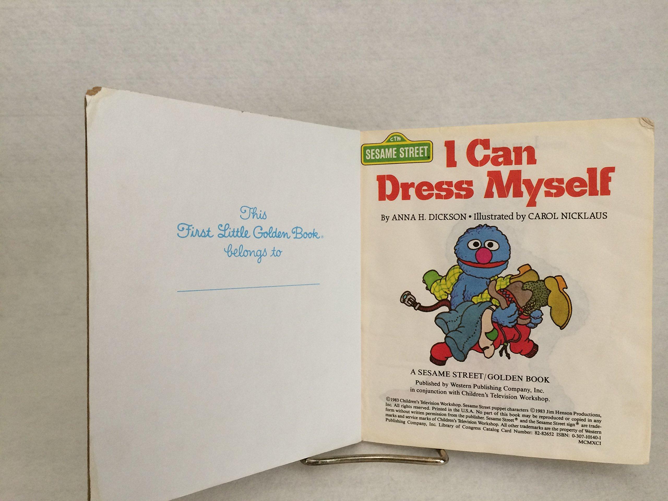 58fcab6b8 I Can Dress Myself (Little Golden Book): Golden Books: 9780307101402:  Amazon.com: Books