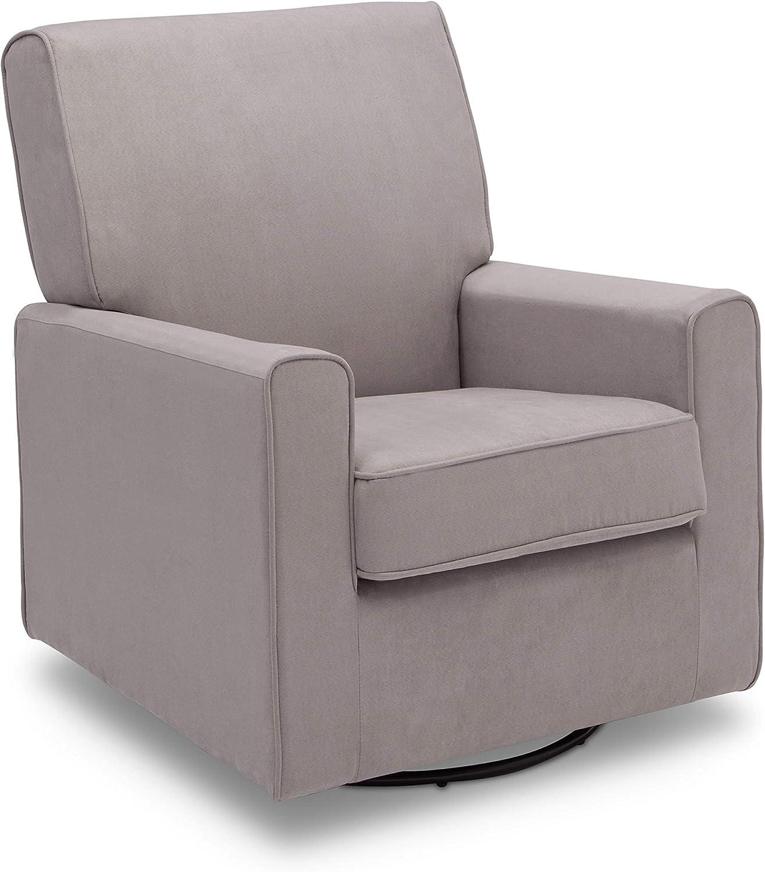 Delta Children Ava Nursery Glider Swivel Rocker Chair, Dove