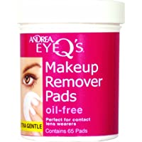 Andrea Eye Q's Oil-free Eye Makeup Remover Pads, 65-Count (Pack of 3)
