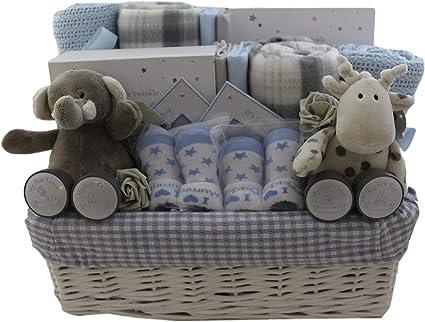 Deluxe Baby Boy Gift Set Baby Boy Gift Hamper Baby Boy Gift Basket