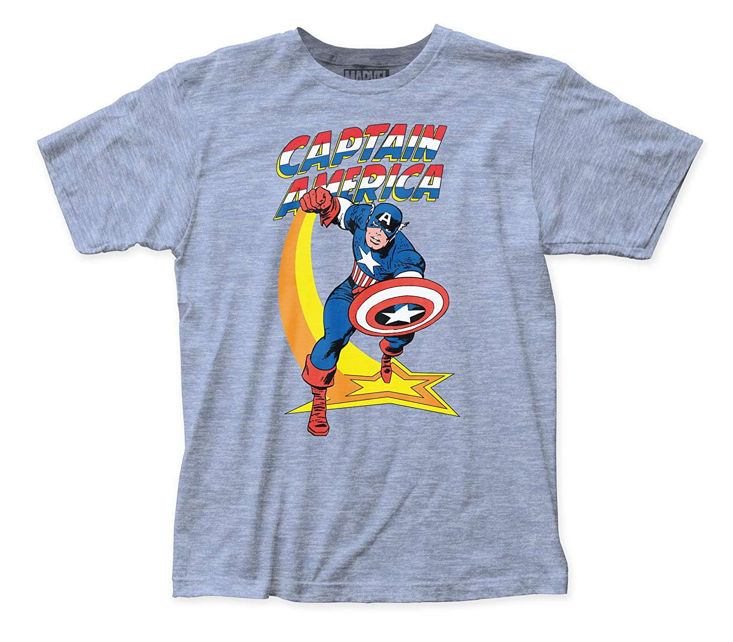 Captain America Star Punch Fitted Jersey tee