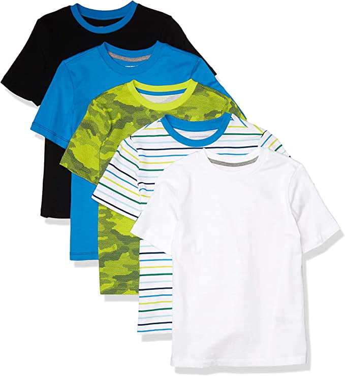 Amazon Essentials Camisetas de Manga Corta Fashion-t-Shirts Niños: Amazon.es: Ropa y accesorios