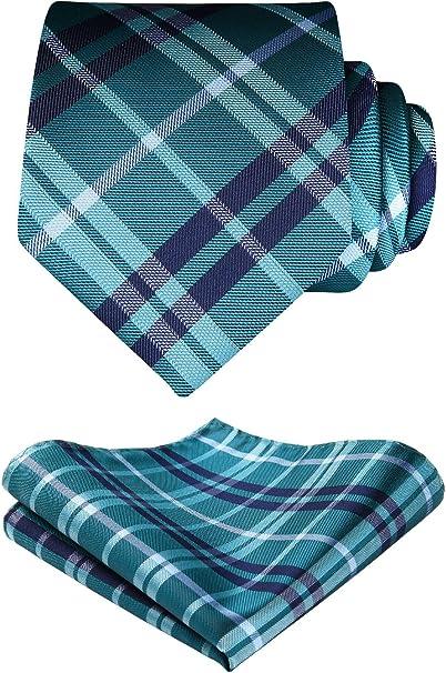 HISDERN Panuelo con corbata para hombre Juego clasico de ...