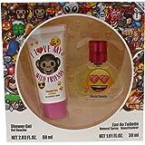 Emoji I Love My Wild Friends by Emoji for Kids - 2 Pc Gift Set 1.01oz EDT Spray, 2.03oz Shower Gel, 2 count