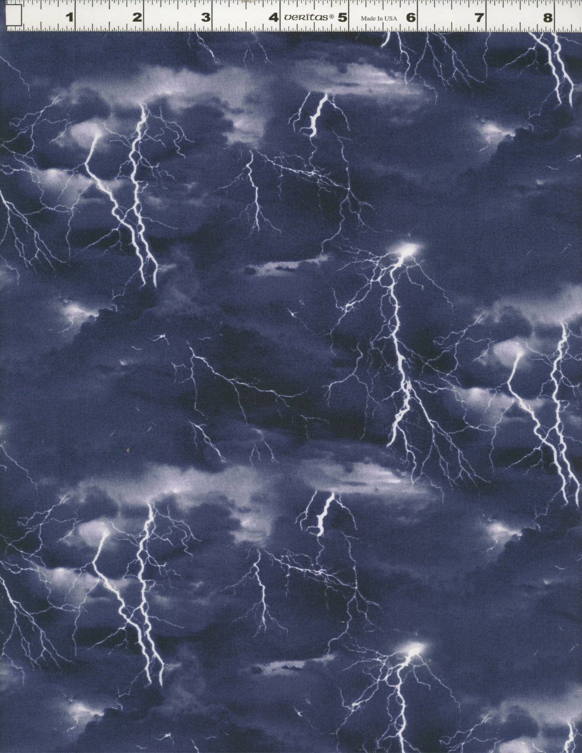 Cotton Landscape Medley Thunder Storm Lightning Bolts Storm Chasers Clouds Black Cotton Fabric Print by the Yard (469-black) by Elizabeth's Studio B00T4O0J36