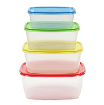 Amazoncom Chef Craft Plastic Storage Container 4 Pack Commercial