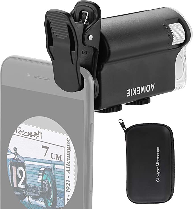 highplus Lupe Universal 60x Handy-Mikroskop-Kamera Clip Objektiv mit LED-L #KY