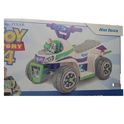 Walmart Kid Trax Toy Story 4 Buzz Lightyear Quad 6 Volt Battery Powered, Ages 18-30 Months, 44 lb max Weight, 1 Rider, only Ships to The Lower 48 US States: Toys & Games