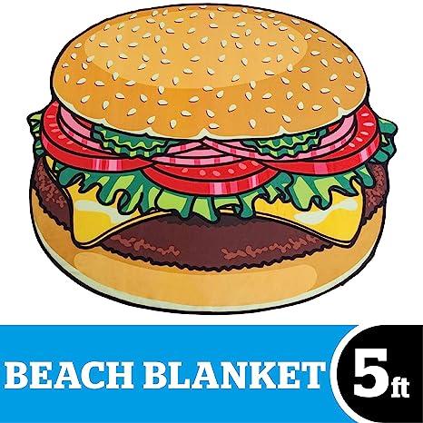 BigMouth Inc Toalla de Playa con Forma de rosquilleta