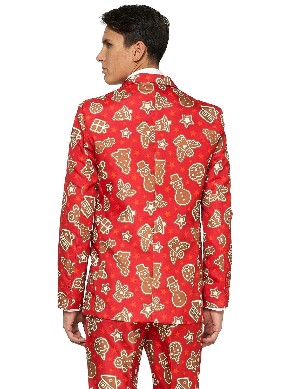 Veste Pantalon /& Cravate OFFSTREAM Costumes de No/ël Fun Costume Complet