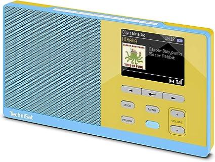 Technisat Digitradio Kira 1 Tragbares Dab Radio Dab Ukw Radiowecker Farbdisplay Favoritenspeicher Kopfhöreranschluss Sechs Frei Belegbare Direktwahltasten Hellblau Gelb Heimkino Tv Video