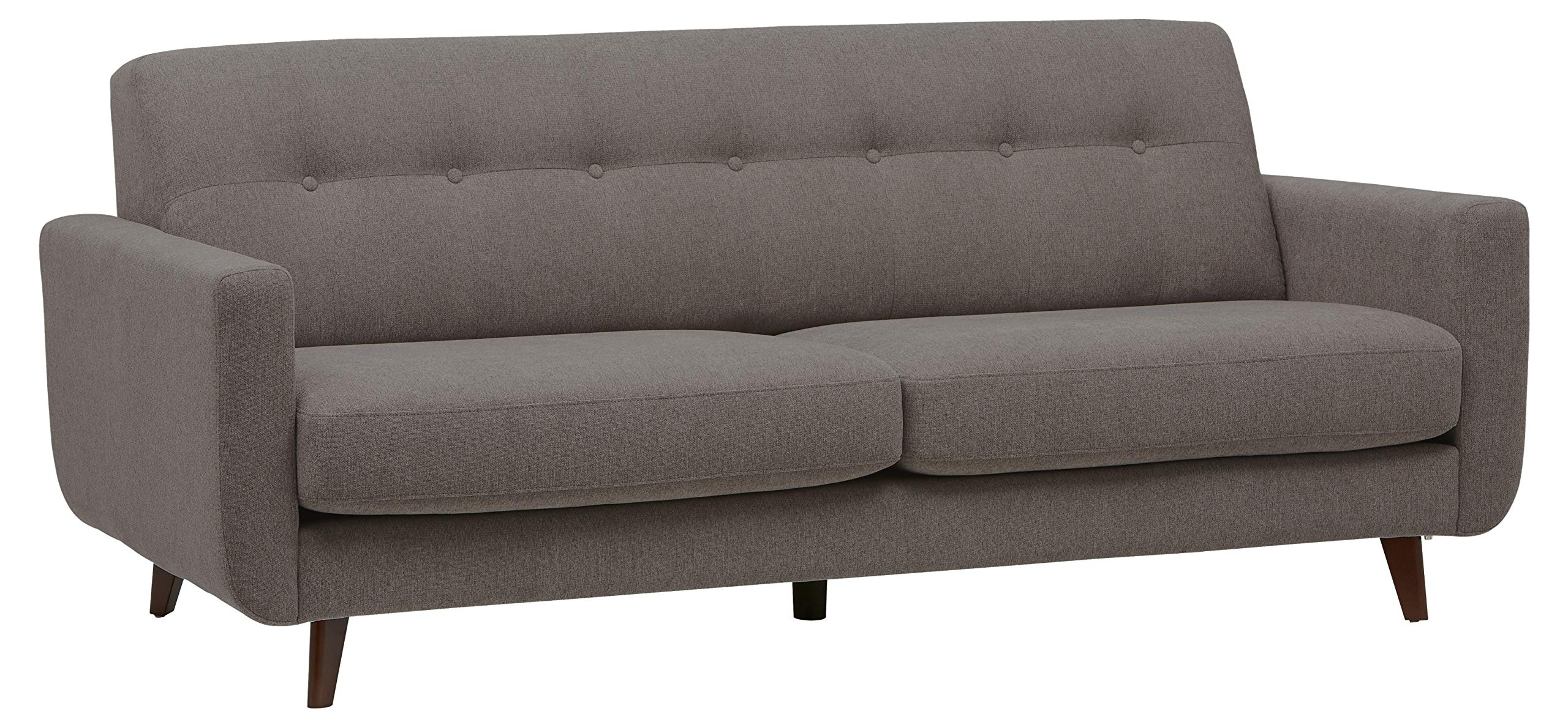 Rivet Sloane Mid-Century Modern Sofa with Tufted Back, 79.9''W, Storm by Rivet