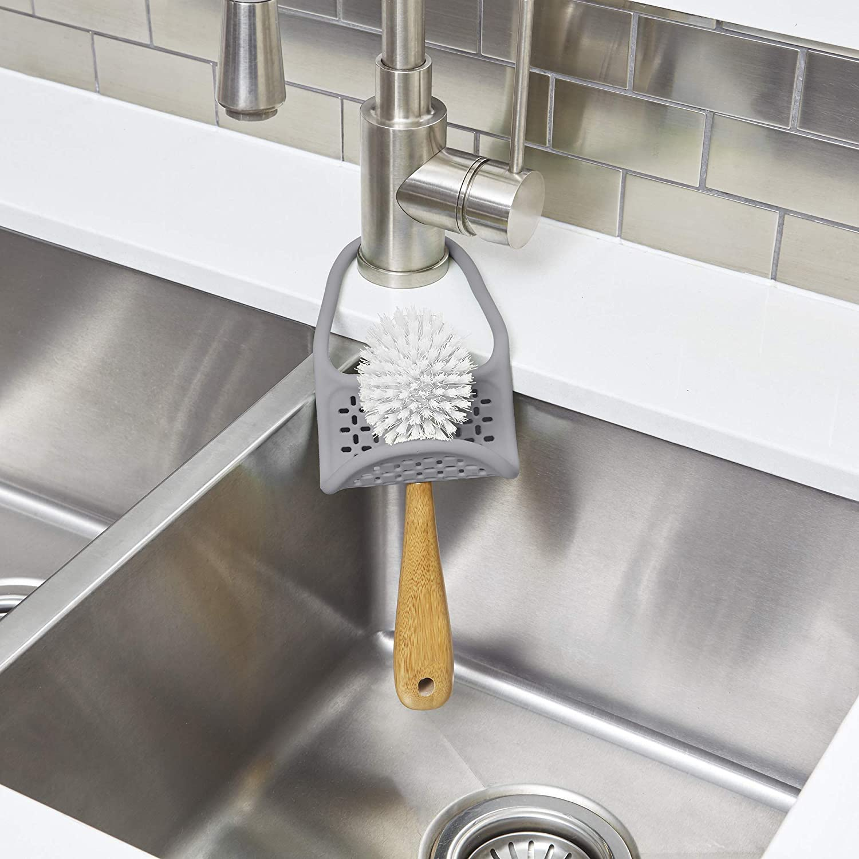 Charcoal Umbra Flexible Sink Caddy