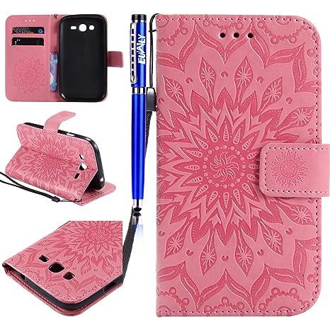 0a958cf4223 Funda Samsung Galaxy Grand Neo Plus I9060, EUWLY Funda Samsung Galaxy Grand  Neo Plus I9060 Piel Libro Carcasa de ...