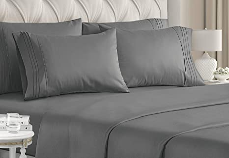 Sheet Set 6 Piece Bed Sheet Twin Cotton Percale Luxury Extra Soft Deep Pocket