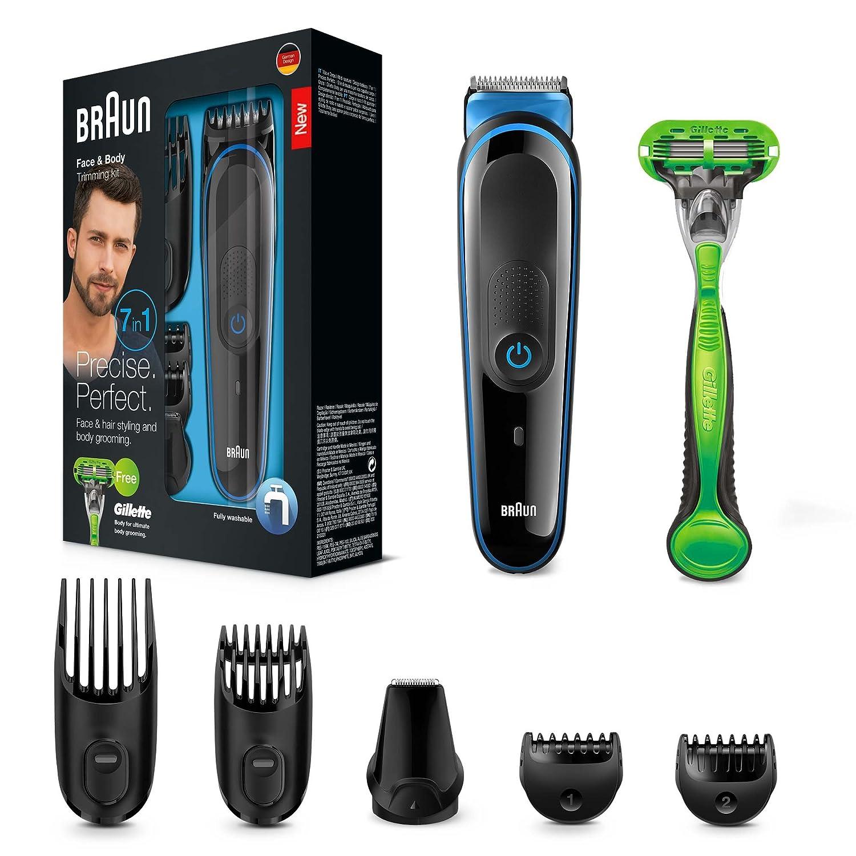 Braun MGK3040 - Set de afeitado multifunción 7 en 1, depiladora masculina, recortadora de barba, cortapelos profesional hombre, negro Procter & Gamble 81577086