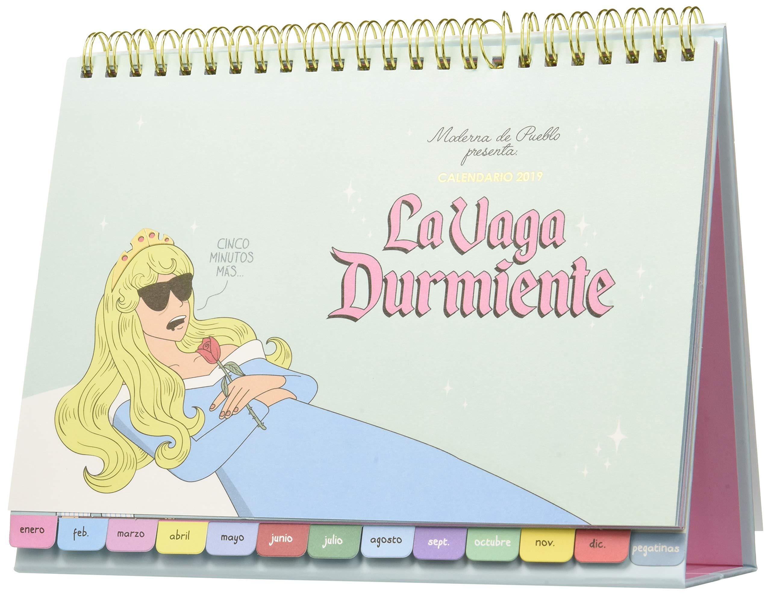 Calendario mesa Moderna de Pueblo 2019. La vaga durmiente ...