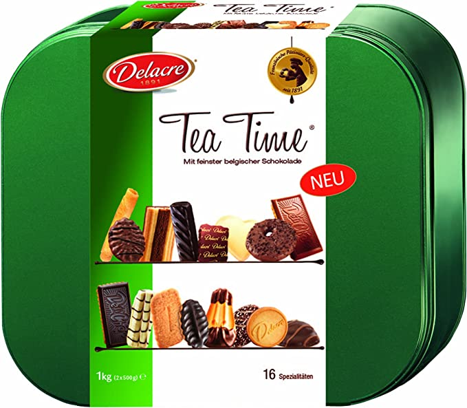 Tea time assortimento di biscotti delacre , 1 kg B001RTNWQW