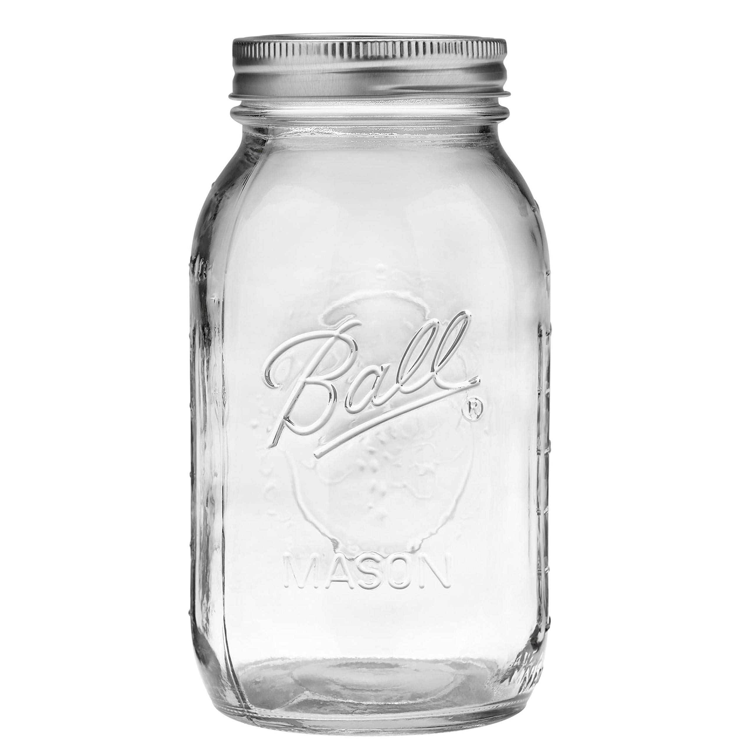 Ball Regular Mouth 32-Ounces Mason Jar with Lids and Bands (6-Units)