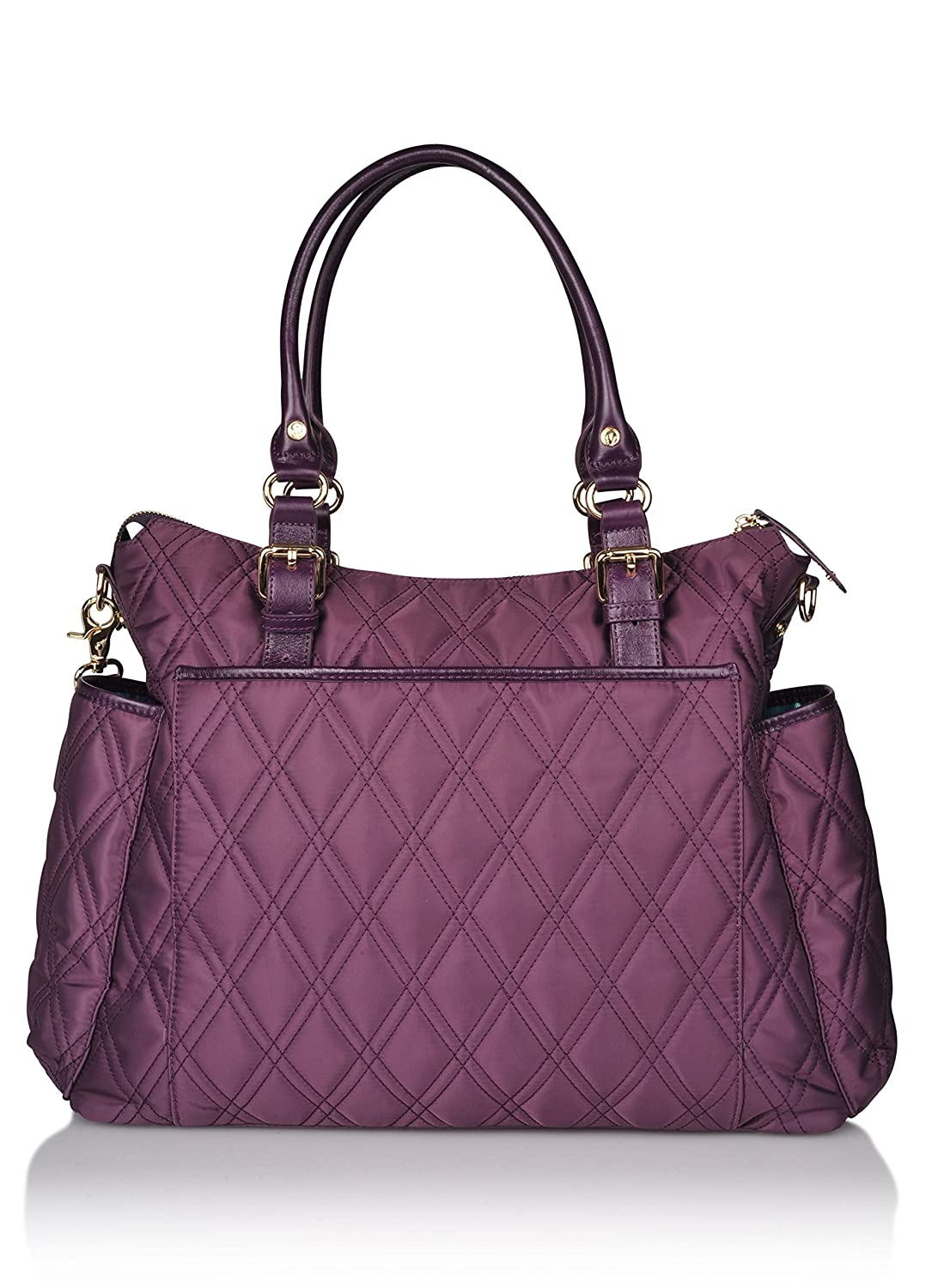 897178d450 Amazon.com   Luxury Diaper Bag in Stylish Burgundy Maroon