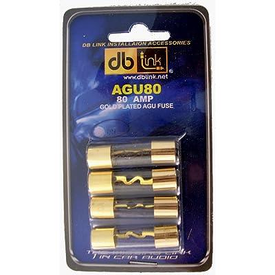 DB Link AGU80 80 Amp Gold AGU Fuses: Car Electronics