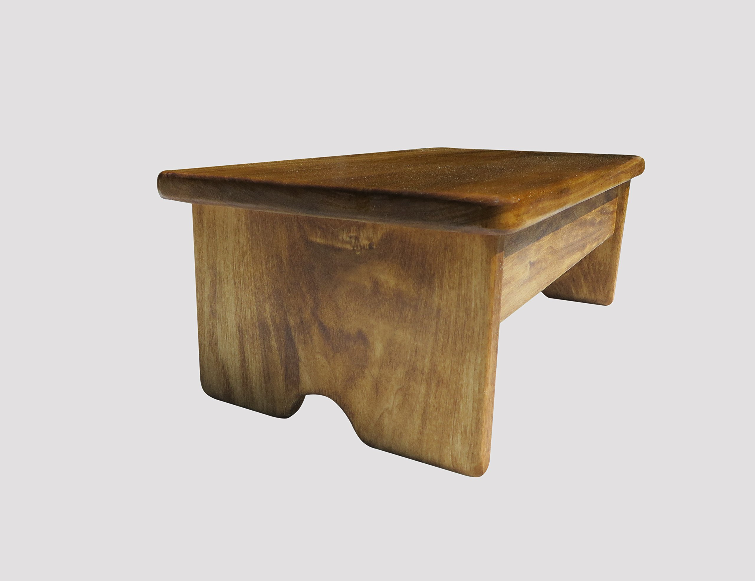 Garage Foot Stool 6'' Tall Poplar Wood (Made in the USA) (Maple Stain)