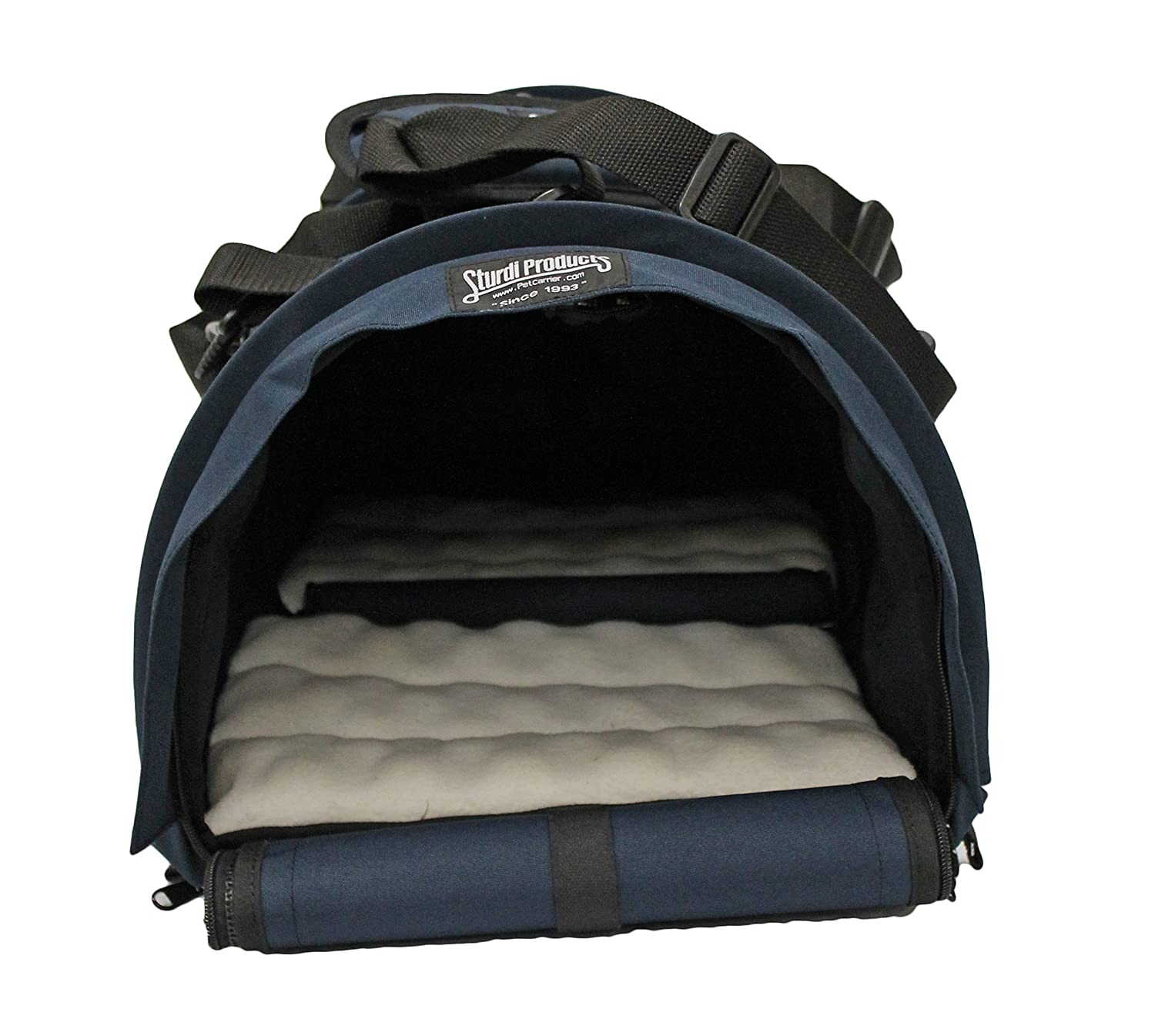 Sturdi Products SturdiBag Double Sided Divided Pet Carrier, Large, Navy SB2D-N