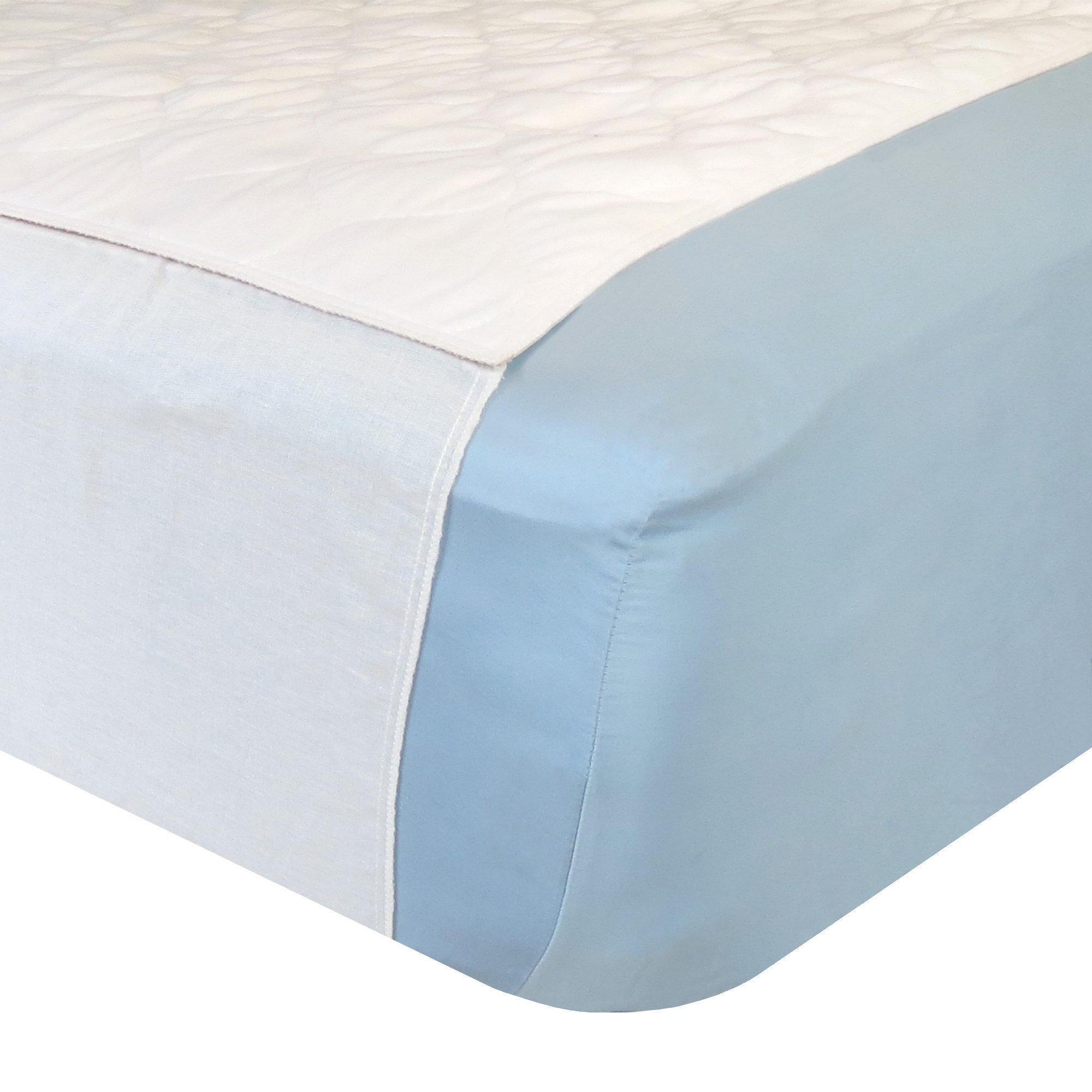 Dry Defender Saddle Style Waterproof Mattress Pad & Sheet Protector - 34 x 36 inches - Absorbs 6 Cups