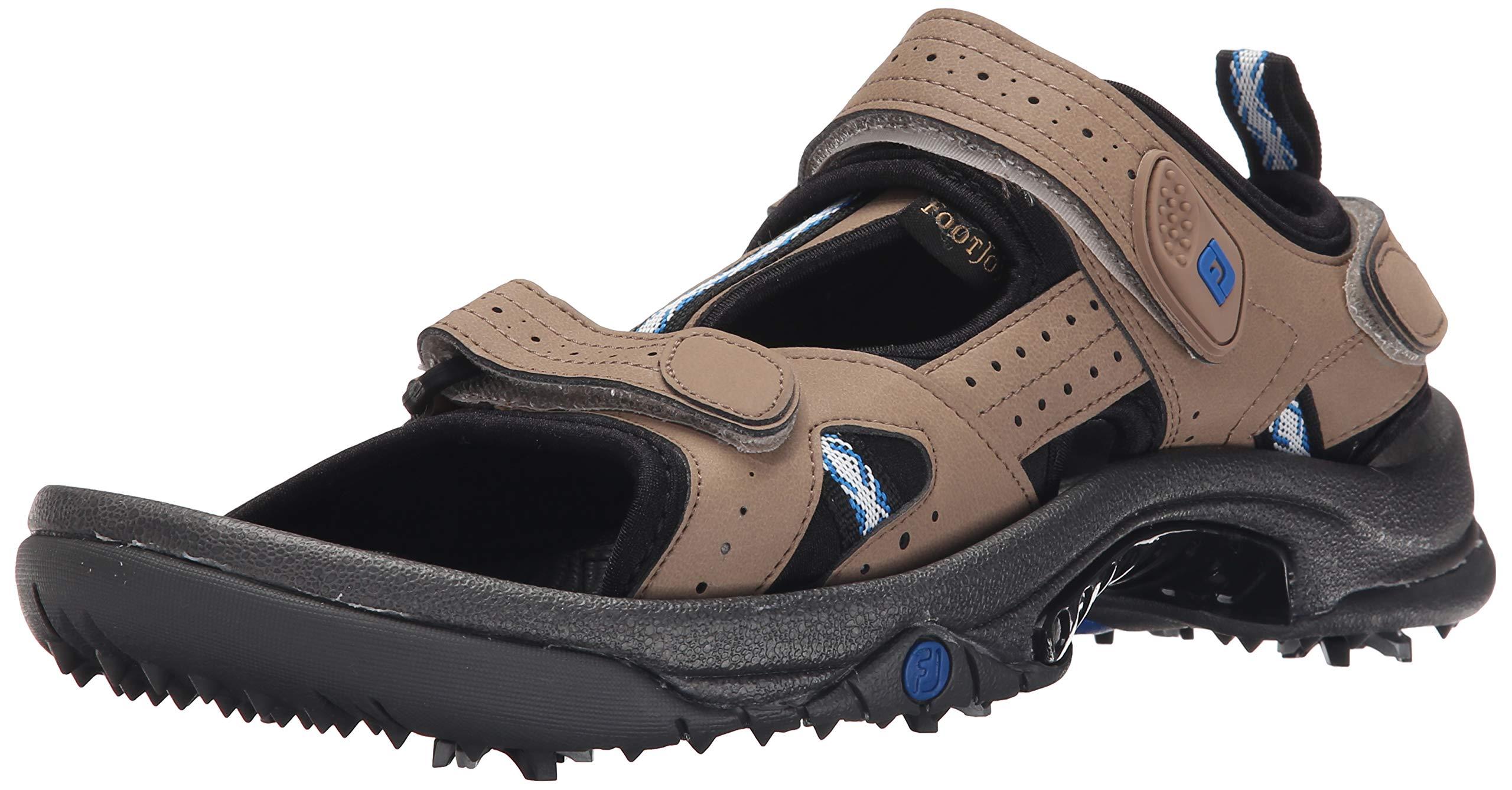 FootJoy Men's Golf Sandals Beige 13 M Shoe, Dark Taupe, US