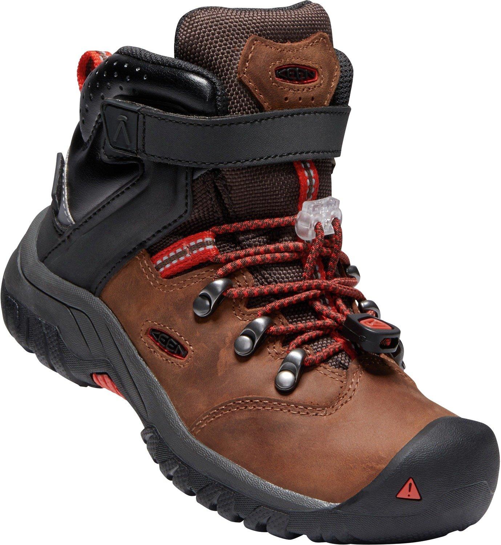 KEEN - Kid's Torino II Mid Waterproof Winter Boots, Tortoise Shell/Fiery Red, 8 M US Big Kid by KEEN (Image #6)