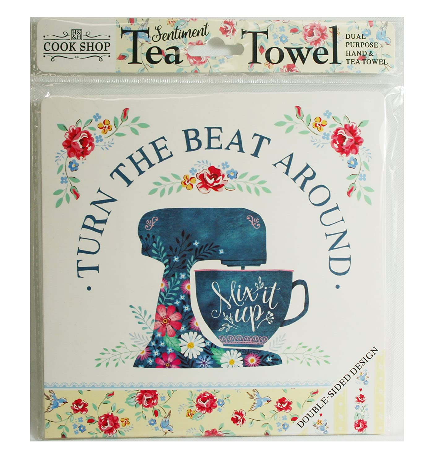 Cook Shop funny sentiment tea towel gift - Turn the beat around ...