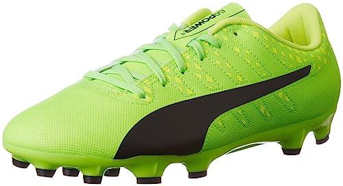 ae7b4d250 Puma Men's Evopower Vigor 4 AG Football Boots Green Gecko Black-Safety  Yellow 01,