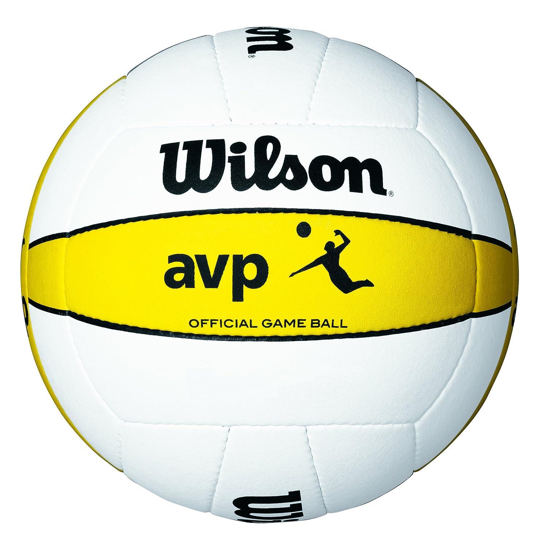 Wilson AVP - Cubierta, color blanco/amarillo, talla 7 Wilson Teamsport Dog Training Collar