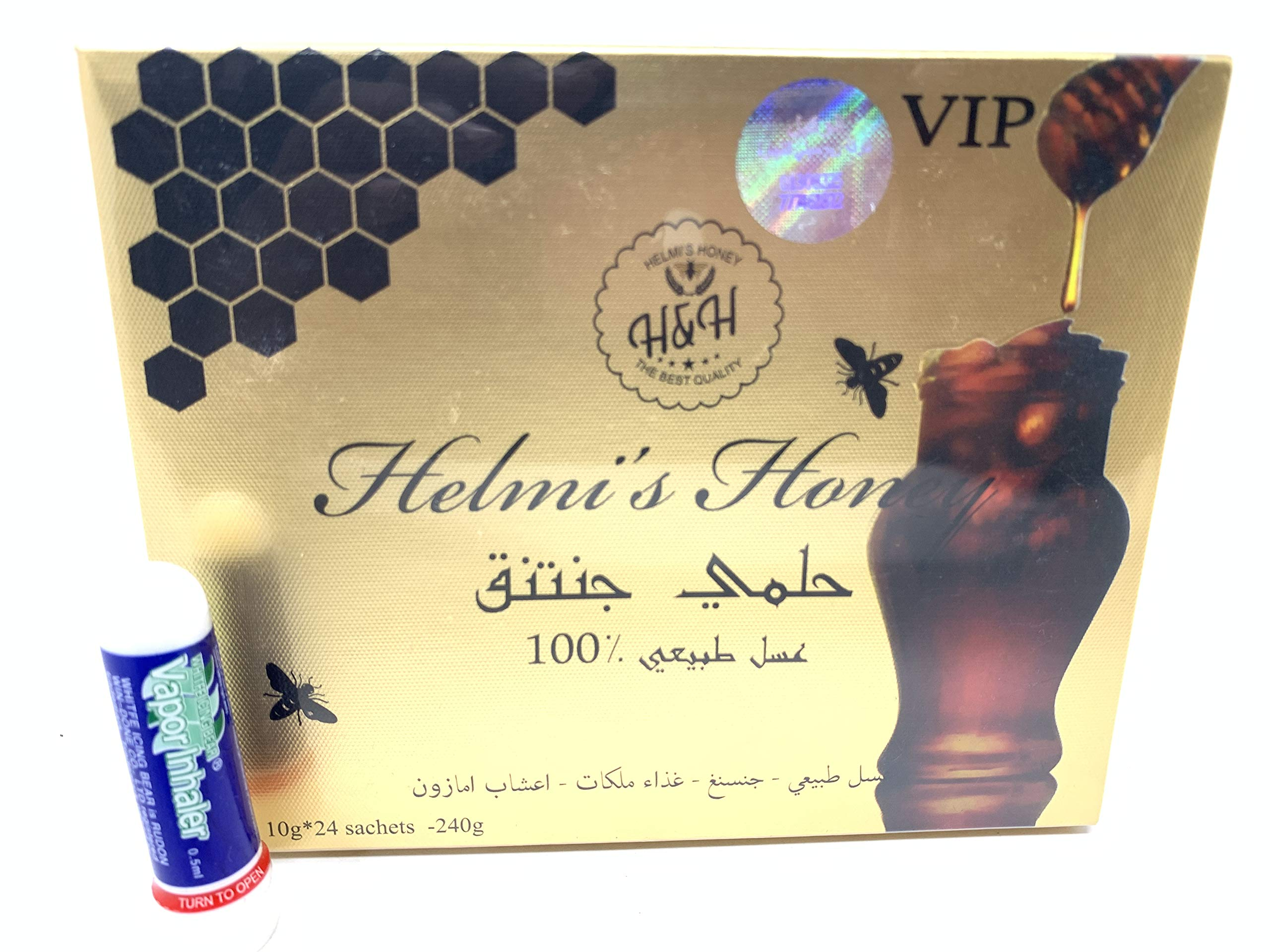 2 Boxes Helmi's Honey V.I.P with Gensing Royal Jelly Amazon Herbs 10g Sachets 24 Per Box