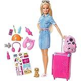 Barbie - Barbie Explorar e Descobrir Barbie Viajeira Fwv25 Mattel Multicor