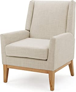 Christopher Knight Home Aurla Fabric Accent Chair, Beige