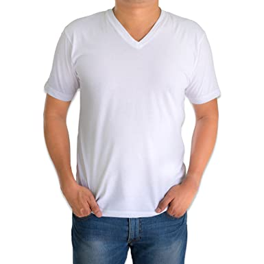 5ac56796b9b0 Classic Men's White Short Sleeve Undershirts V Neck T Shirt - 12 Pack at Amazon  Men's Clothing store: