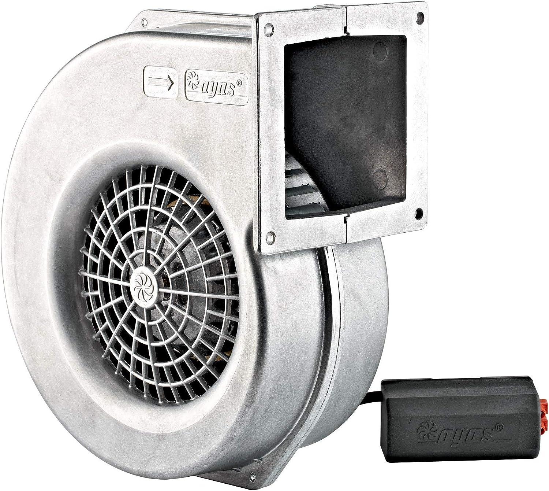 Uzman-Versand AG-160E - Ventilador radial, aluminio, centrífugo, ventilador radial, carburador de madera