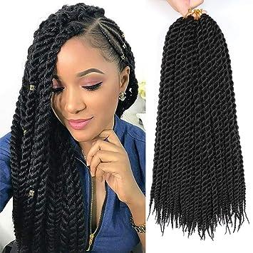 Amazoncom 6 Packs 18 Havana Mambo Twist Crochet Braid Hair